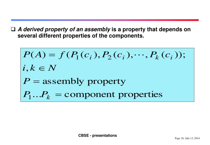 A derived property of an assembly