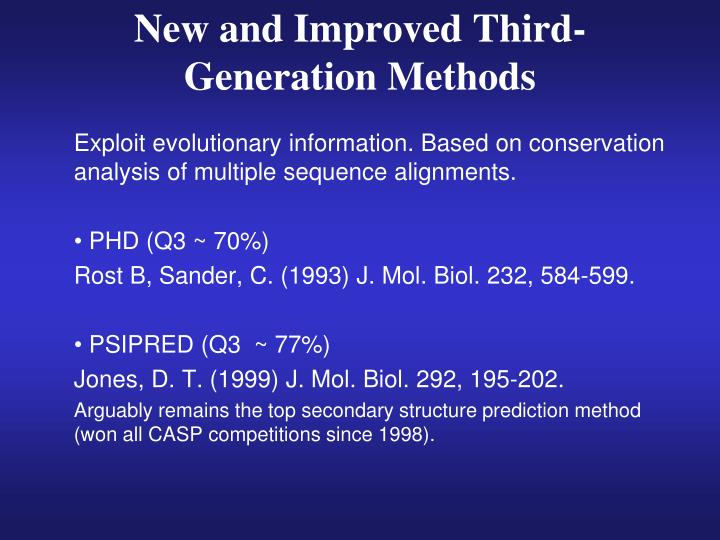 New and Improved Third-Generation Methods