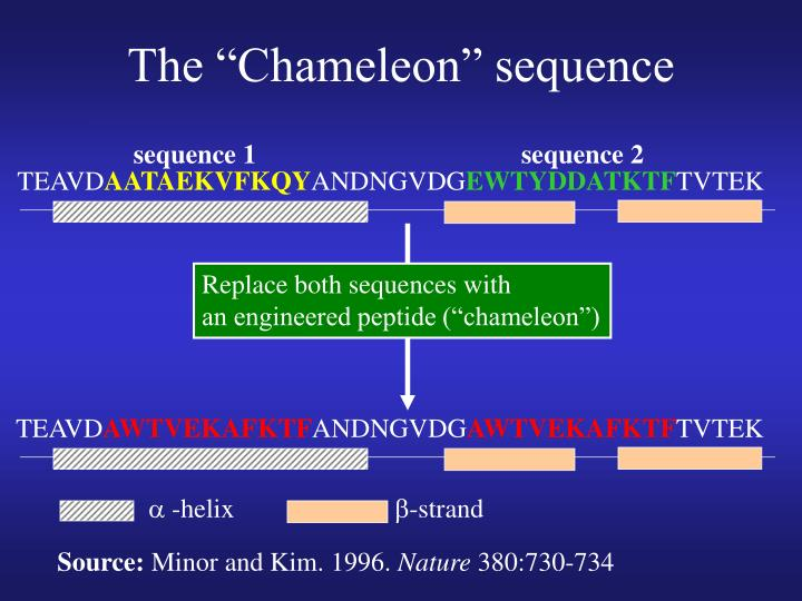 "The ""Chameleon"" sequence"