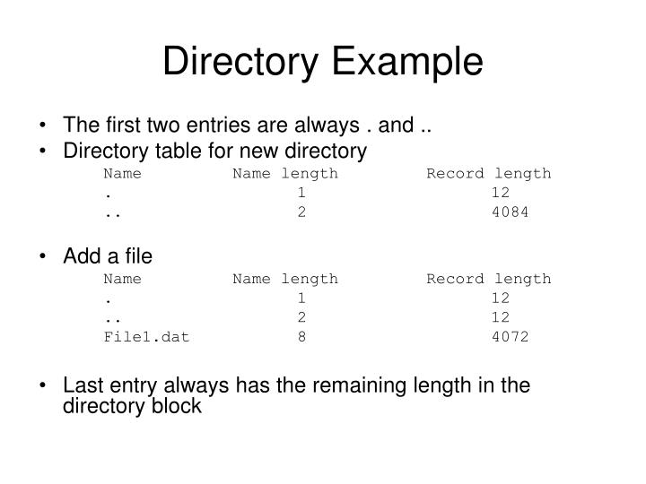 Directory Example