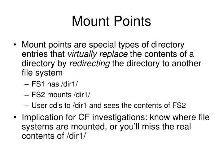 Mount Points