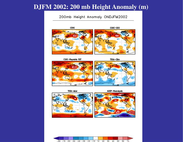 DJFM 2002: 200 mb Height Anomaly (m)