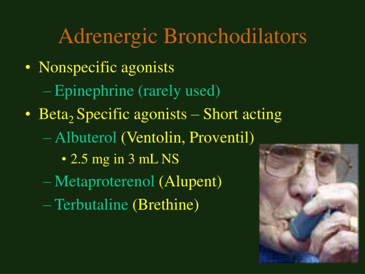 Adrenergic Bronchodilators