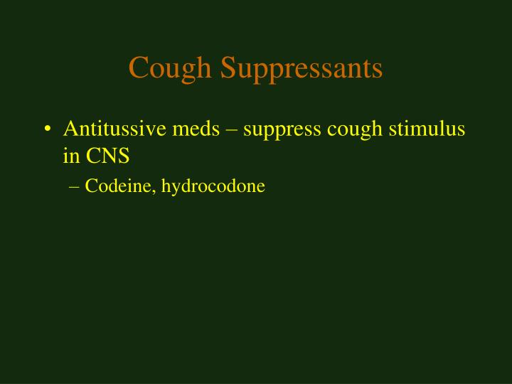 Cough Suppressants