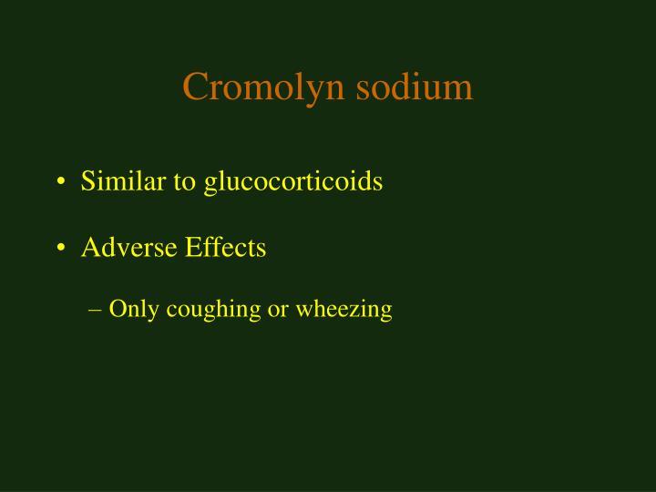 Cromolyn sodium