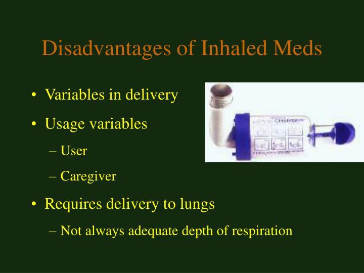 Disadvantages of Inhaled Meds