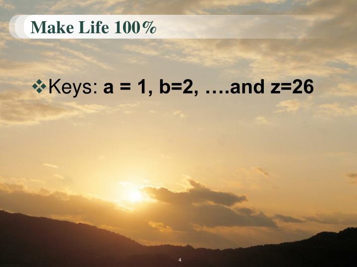 Make Life 100%