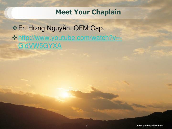 Meet your chaplain