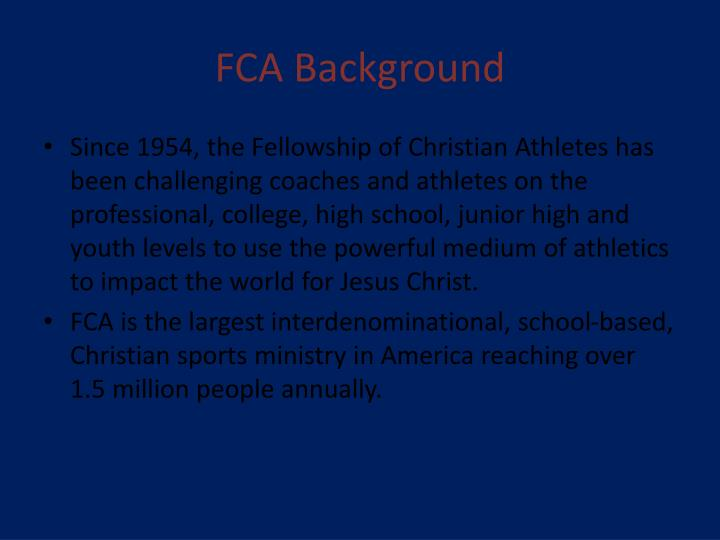 Fca background