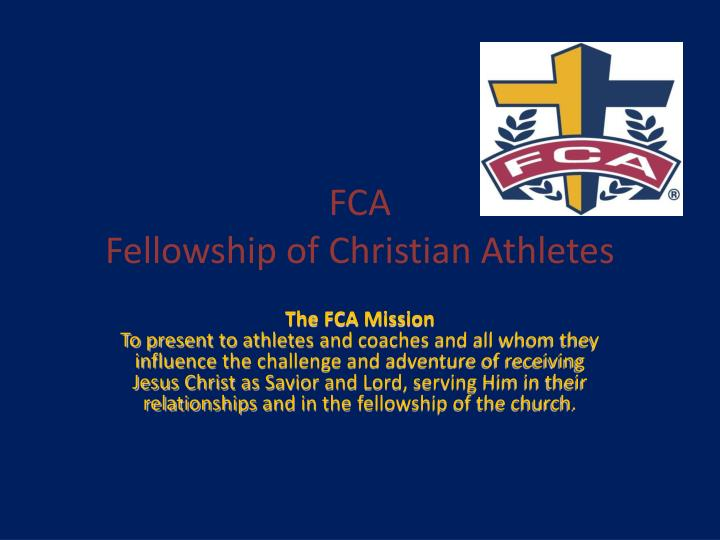 Fca fellowship of christian athletes