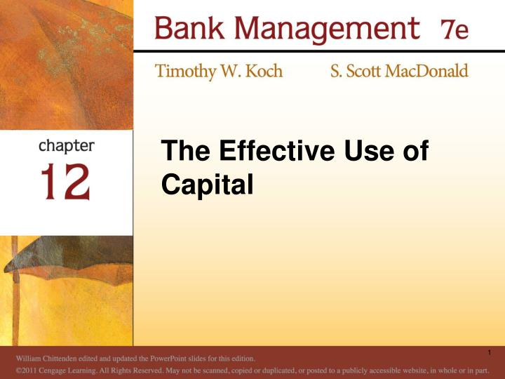 the effective use of capital n.