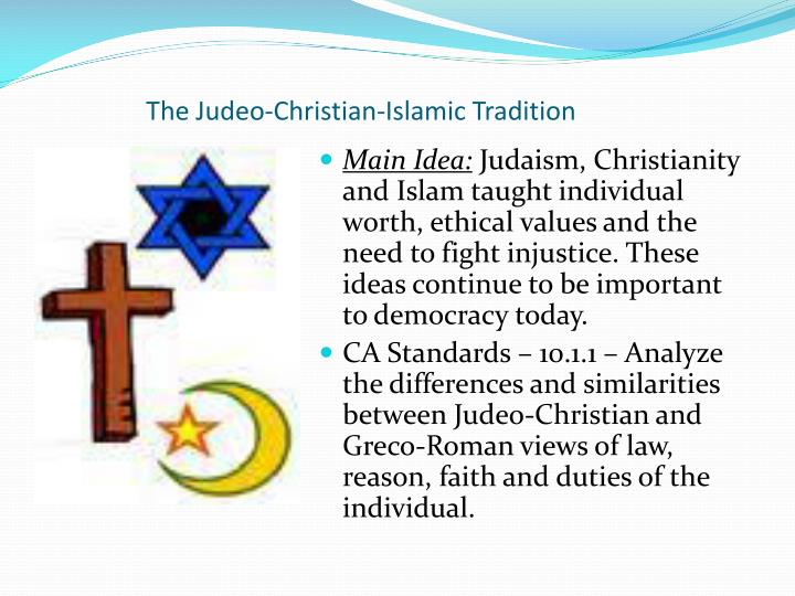 views of christianity and islam towards Islam, judaism, and christianity are considered abrahamic religions this means that they all worship the god of abraham because of language differences, they call god by different names, but they are one and the same.