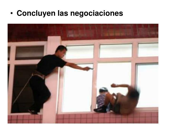 Concluyen las negociaciones