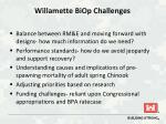 willamette biop challenges