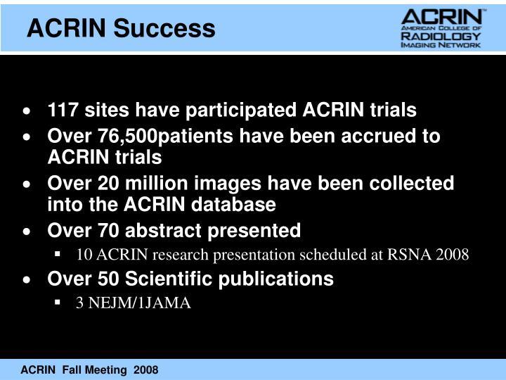 ACRIN Success