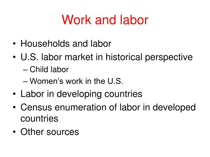 work and labor n.