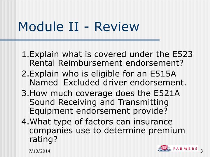 Module ii review
