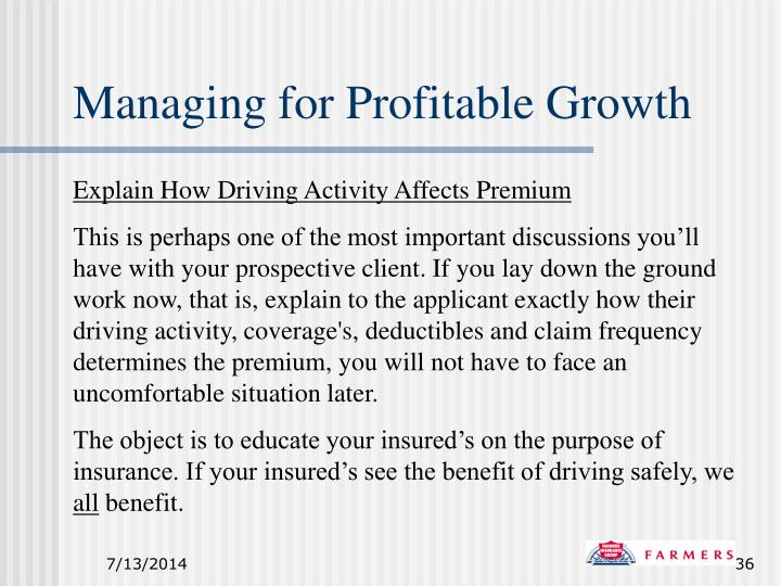 Managing for Profitable Growth