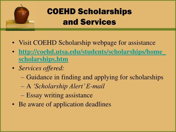COEHD Scholarships