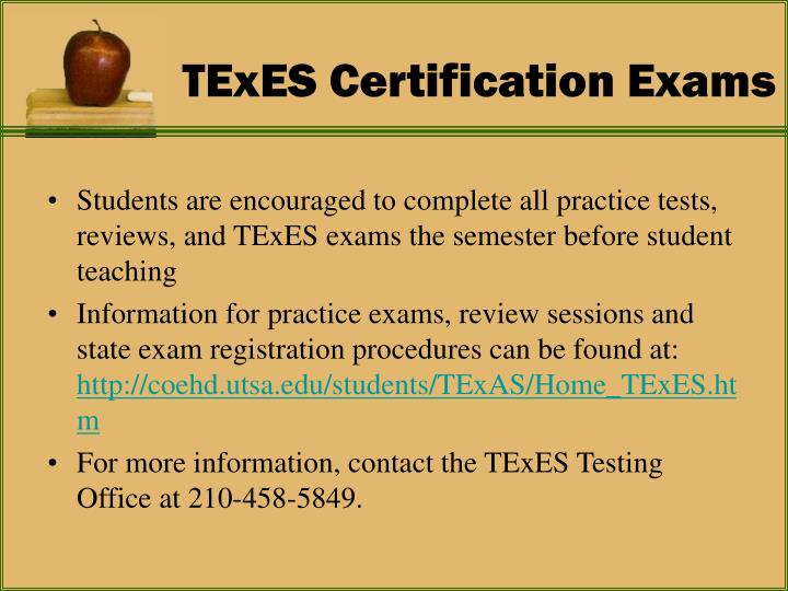 TExES Certification Exams