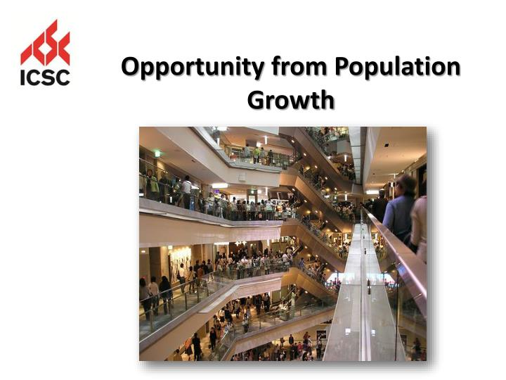 Opportunity from Population Growth