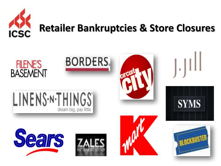 Retailer Bankruptcies & Store Closures