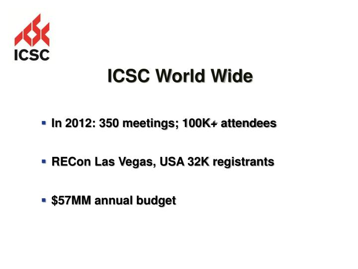 ICSC World Wide