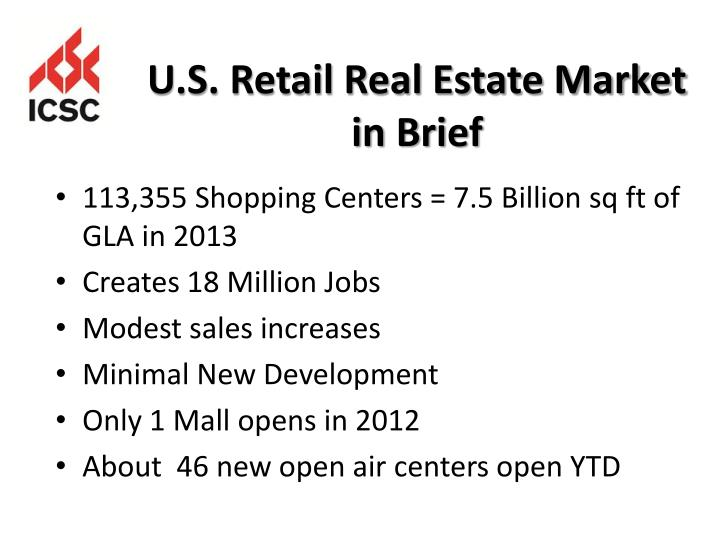U.S. Retail Real Estate Market