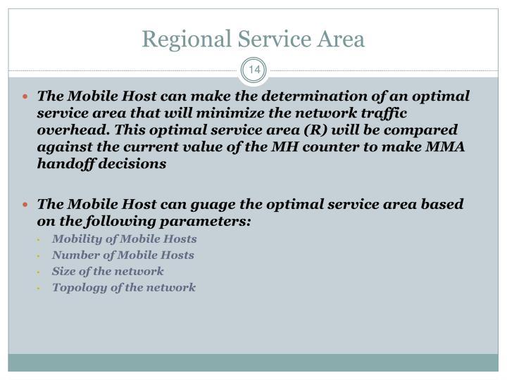 Regional Service Area