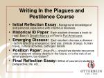 writing in the plagues and pestilence course