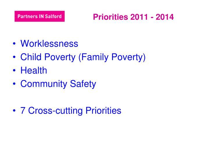 Priorities 2011 - 2014