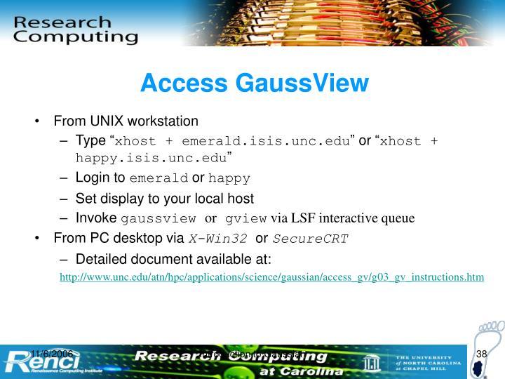 Access GaussView