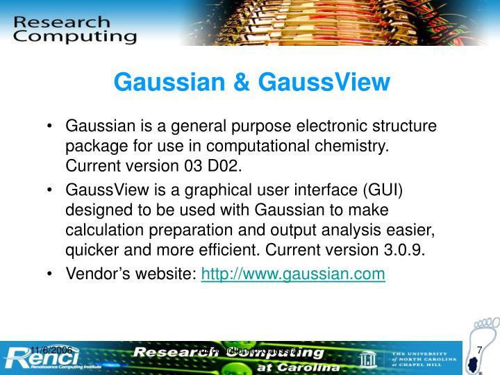 Gaussian & GaussView