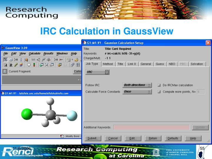 IRC Calculation in GaussView