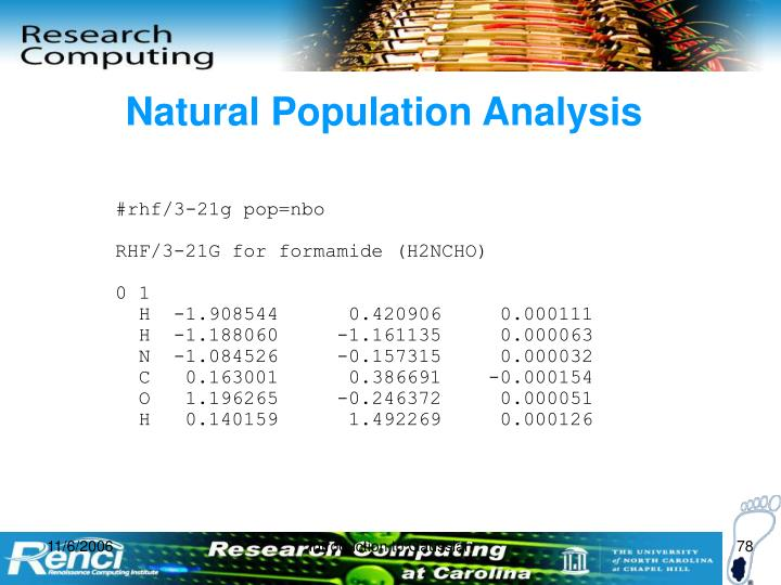 Natural Population Analysis