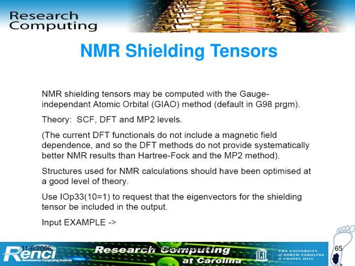 NMR Shielding Tensors