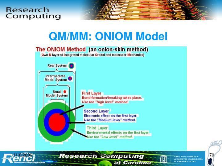 QM/MM: ONIOM Model