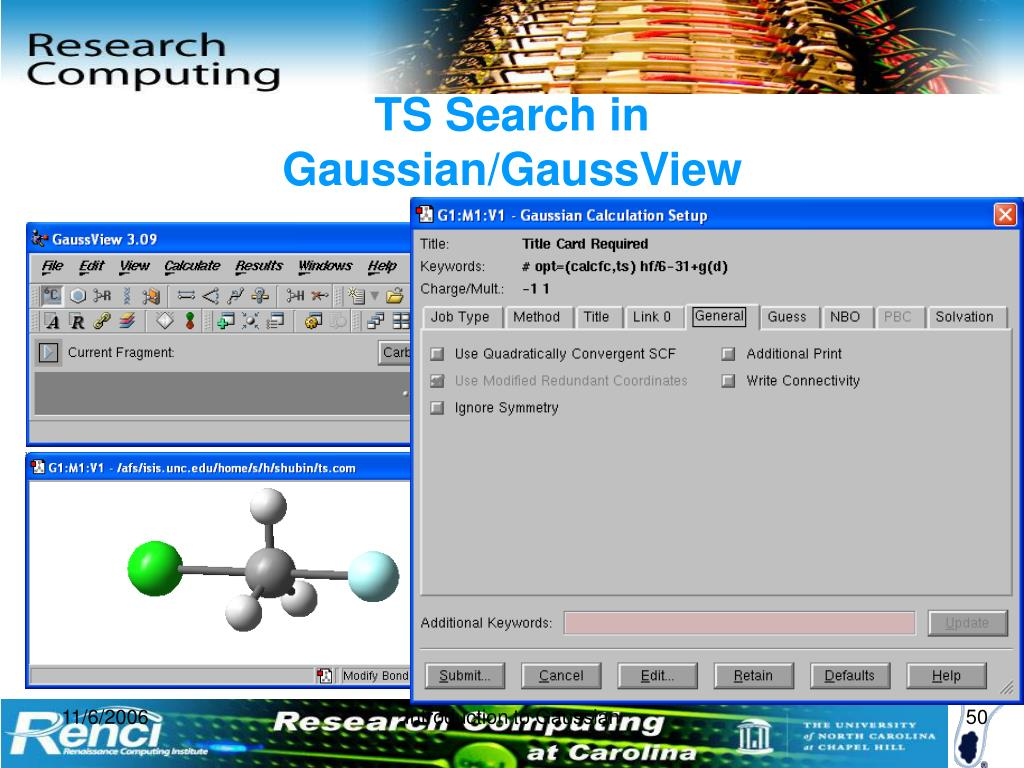 PPT - Introduction to Gaussian and GaussView PowerPoint