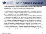 satp analysis question