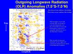 outgoing longwave radiation olr anomalies 7 5 s 7 5 n