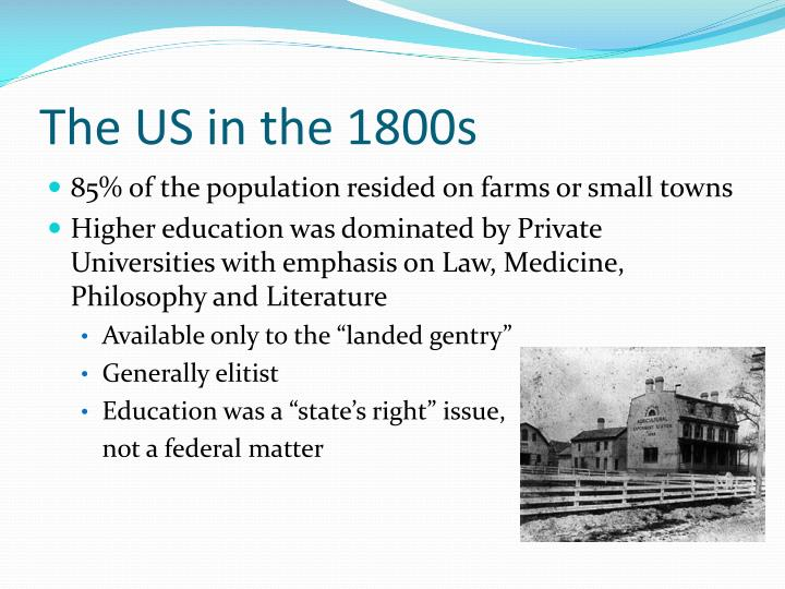 The us in the 1800s