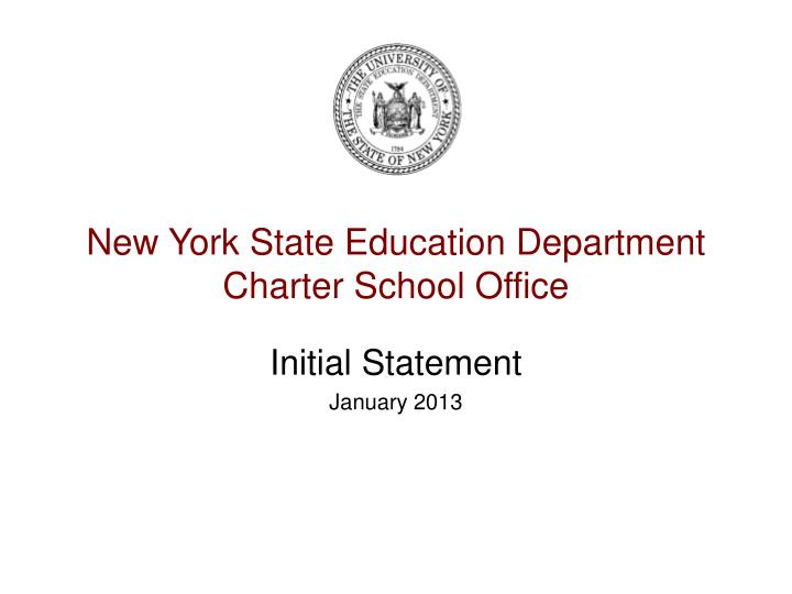 new york state education department charter school office n.
