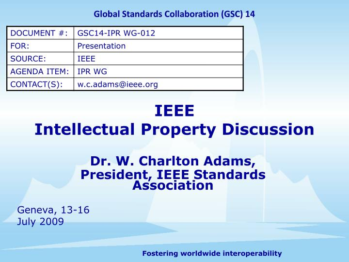 ieee intellectual property discussion n.