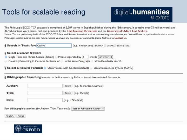 Tools for scalable reading