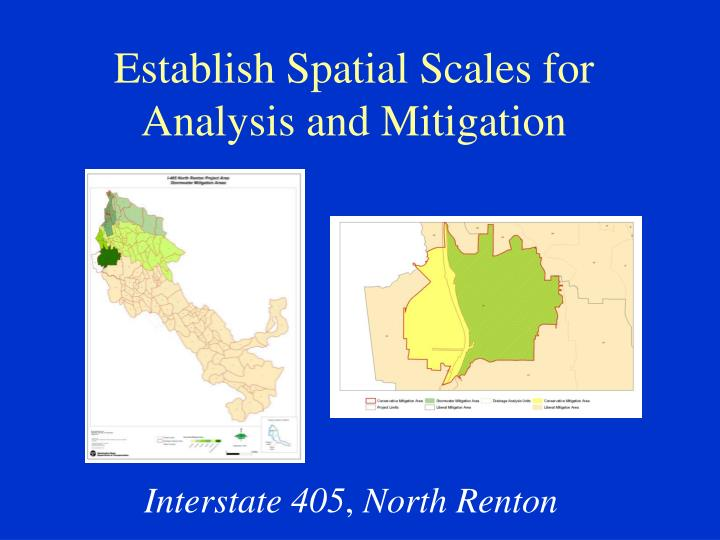 Establish Spatial Scales for Analysis and Mitigation