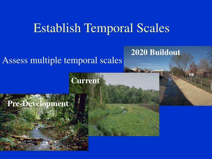 Establish Temporal Scales