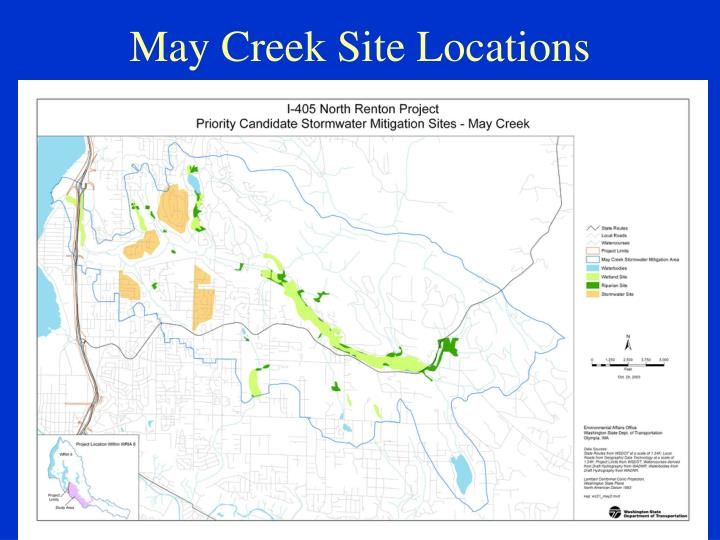May Creek Site Locations