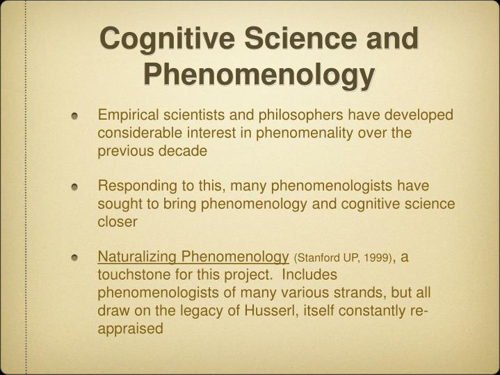Cognitive Science and Phenomenology