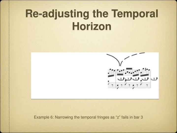 Re-adjusting the Temporal Horizon