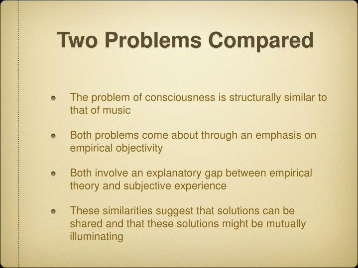 Two Problems Compared